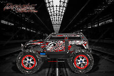 "TRAXXAS SUMMIT GRAPHICS WRAP DECALS ""GEAR HEAD"" FOR OEM BODY PARTS RED"