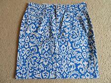 New Women's Old Navy Above-Knee Floral Jean/Denim Skirt Royal Blue/White Size 8