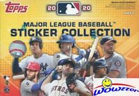 2020 Topps Baseball Stickers EXCLUSIVE Sealed Blaster Box-40 Stickers+Poster