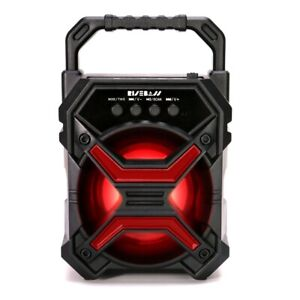 Portable Wireless Bluetooth Speaker FM Radio Indoor Outdoor Party Lights