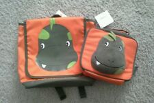 New listing Gymboree New Dinosaur Orange Plush Toddler Preschool Backpack Bag & Lunch Tote