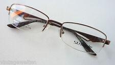 Struggle braune Brillenfassung nur Oberrand Metallgestell Rahmen Männer size M