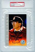 Joe Gibbs Auto REDSKINS Signed 1998 Ron Mix Football HOF Platinum - PSA POP 3