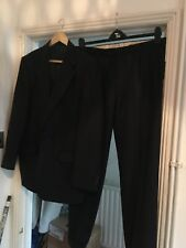"""Gieves and Hawkes Suit Wool Jacket Trousers 42"""" Short Blue Pinstripe"""