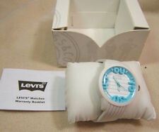 NEW Levis White Blue Watch 3D dial Silicon Band New Battery LTI0808