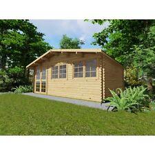 Agande Gartenhaus Blockhaus Gerätehaus 600x400, 40 mm, mit Fußboden 18 mm 403953
