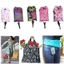 1pcs Foldable Shopping Bag Reusable Tote Pouch Recycle Grocery Handbag Random
