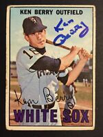 Ken Berry White Sox Signed 1967 Topps Baseball Card #67 Auto Autograph 1