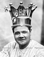 BABE RUTH Photo Picture NEW YORK YANKEES NY Vintage 8x10 BASEBALL CROWN PRINT