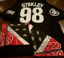 RHUDE RH Stockley 98 Trini Bandana Rare Tall Shirt Red Black Medium Street Wear