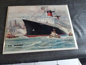 Objets paquebot France et Antilles
