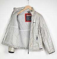 Gaastra PR-G Light Damen Groß Glänzend Look Gesteppt Silber Jacke 35832-GS