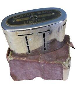 Vintage LLoyds Bank Ltd Locking Money Box Home Safe (NO Key) In Original Box