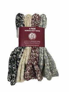 SALE! Weatherproof Vintage Women's Soft Cotton Boot Socks 4 or 6 Pk VARIETY C44
