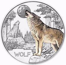 3 Euro Tier Taler Serie - Der Wolf 5. Ausgabe der Münze Österreich in Münzkapsel