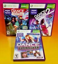 Dance Central 1 & 2 & Paradise  - Xbox 360 3 Game Bundle -Complete w/ Manuals