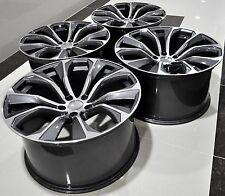 """22"""" 2016 X6 SPARKLING STORM STYLE STAGGERED WHEELS RIMS FIT BMW X5 X6 1262 GM"""