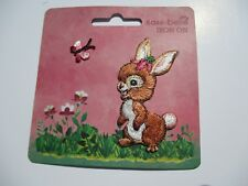 Bunny Rabbit Motif - Iron On Embroidered Applique Motif Iron on or Sew on Patch
