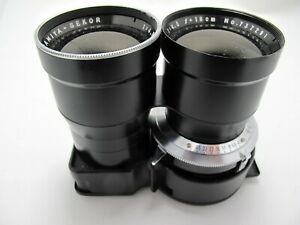 MAMIYA - SEKOR 1:4.5 F= 18CM ( for parts) Shutter working and accurate.