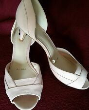 Debenhams Collection nude neutral court shoes size 4 NWOB