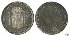 España Alfonso XIII 5 ptas. 1894 (*94) PGV Ag / Patina original S/C  Espectacul