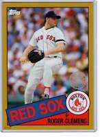 Roger Clemens 2020 Topps 1985 35th Anniversary 5x7 Gold #85-18 /10 Red Sox