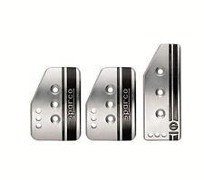 Sparco Settanta Series Manual Gear Racing Silver Pedal Set #037879IT01