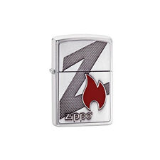 ZIPPO Lighter - Z Flame - Brushed Chrome - Z29104