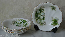 Royal Albert TRILLIUM Shell Shaped Dish, bone china, set of 3 + 1 bonus plate