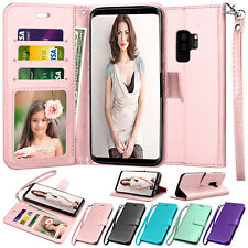 For Samsung Galaxy S7 S8 S9 S10 Plus Note 9 Wallet Case Flip Leather Stand Cover