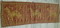INDIA WALL HANGING DECOR VINTAGE HANDMADE CAMEL ANIMAL EMBROIDERY TAPESTRY ART
