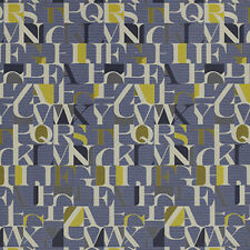 Momentum Hearsay Mosaic Letters Modern Contemporary  Upholstery Fabric