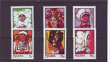 POLAND - SG2906-2911 MNH 1983 WOMENS FOLK COSTUMES