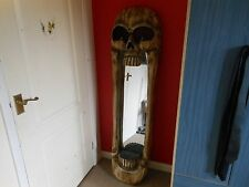 """5 Foot Tall Skull Mirror Hand Made in Indonesia - Approx 60"""" (1525mm)"""