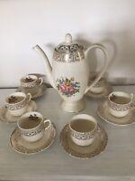 China/Porcelain Tea Set: Tea Pot 7 Cups & Saucers / Victorian Theme