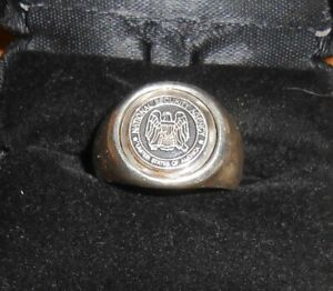 Vintage NSA National Security Agency 935 Silver Ring Handarbeit RKFN Size 7