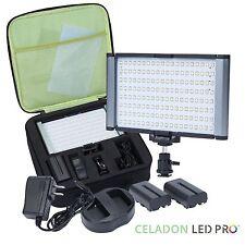 Radiant PRO 160-SMD-LED CRI 95+ Bi-Color Video Camera and On-Camera Light Kit