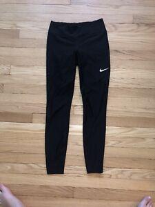Women's nike Dri Fit full length black leggings Athleisure Size Small EUC