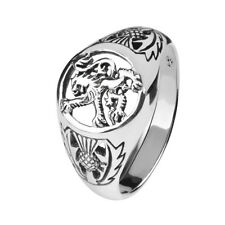 SCOTTISH LION SILVER SIGNET RING 9290
