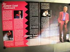 JAMES LAST Supersized 2-sided 1990 PROMO AD The Man