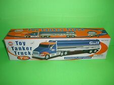 2004 GULF #1 PLASTIC TOY TANKER TRUCK EQUITY MARKETING