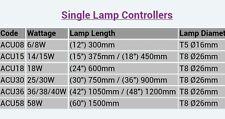 "ARCADIA SINGLE FLUORESCENT ULTRASEAL  LIGHT TUBE CONTROLLER9/12"" 6/8W 19mm CAP"