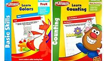 PLAYSKOOL~COLORS & COUNTING~ WORKBOOKS Set - 2 Ages 4-8 Pre-K NEW!