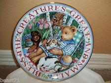 Royal Doulton Franklin Mint 'Blessed With Friends' Teddy Bear Plate