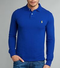 9a8c6f1c43 Custom Fit Small Pony Ralph Lauren Polo Long Sleeve Rugby Polo T Shirt for  Men