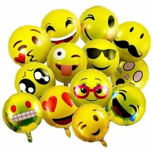 10 Stück Helium Folienballons Emoji Grün Hochzeit Geburtstag Geschenk Werbung
