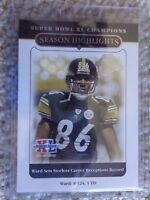 2006 Steelers Topps Super Bowl XL HINES WARD CARD# 43
