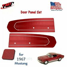 Bright Red Door Panels For 1967 Mustang -Pair - by TMI - Made in USA  In Stock!!