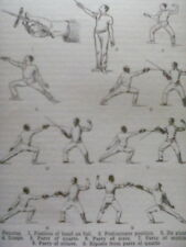 Fencing Article English & Continental with Diagrames 2 Pages 1920's to Frame?