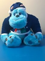 """Disney Store Monsters Inc. SULLY w/ Christmas Snowman Sweater Plush 11"""""""